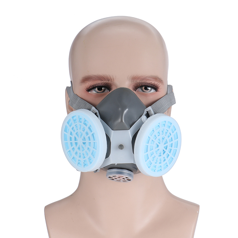 Anti Dust Respirator 2 Gas Mask Filter Twin Chemical Spray Paint Safety Headwear by