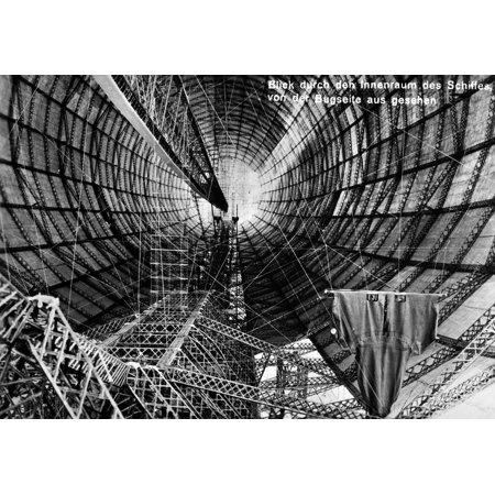 Zeppelin Construction Ninterior Of The Graf Zeppelin Lz 127 Airship During Construction At The Zeppelin Aircraft Works In Friedrichshafen Germany Postcard C1930 Rolled Canvas Art -  (24 x 36)