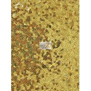 Mini Disc Sequin Nylon Mesh Fabric / Shiny Gold / Sold By The Yard