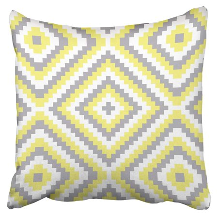 BPBOP Gray And Yellow Accent Pillowcase Cushion Cover 16x16 - Yellow Accents
