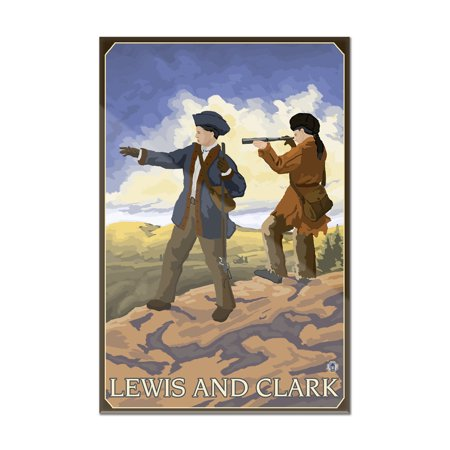 Lewis Gallery - Lewis and Clark - Lantern Press Artwork (8x12 Acrylic Wall Art Gallery Quality)
