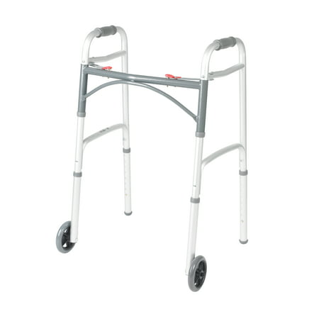 Drive Medical Deluxe Two Button Folding Walker with 5