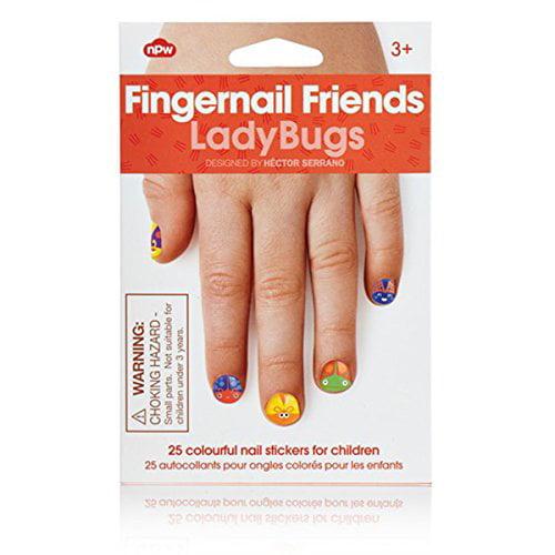 Fingernail Friends Sticker Nail Art for Children - Ladybugs