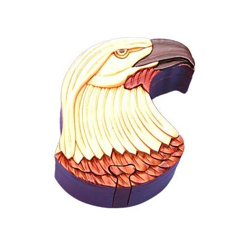 Eagle Head Secret Wooden Puzzle Box by The Handcrafted