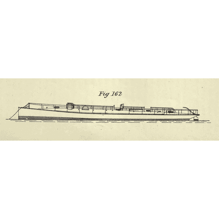 Royal Fig (Canvas Print Fig. 162 of Plate 50 (Yarrow's Torpedo Boats), showing a Yarrow boat for the Royal Navy, from Charle Stretched Canvas 10 x 14)