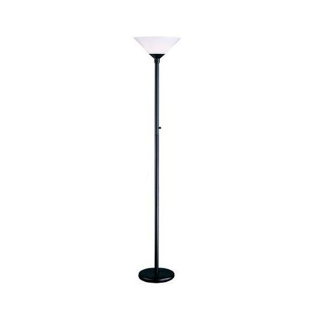 Aries Torchiere - Adesso 7500-01 Aries Torchiere Floor Lamp - Black