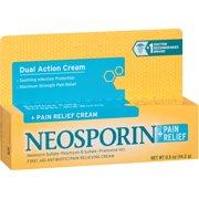 2 Pack - Neosporin Plus Pain Relief Cream, Maximum Strength, 0.5 oz