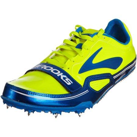 - Brooks Mens PR Sprint 10.45 Track Spikes (12.5, ElctrcBlu/Nghtlife/Blck/Wht)