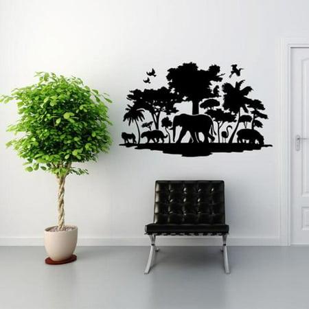 Style and Apply Jungle Exotic Vinyl Wall Art - Walmart.com