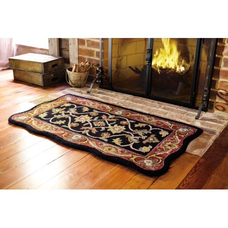 Hand Tufted Fire Resistant Scalloped Wool Mclean Hearth Rug Com