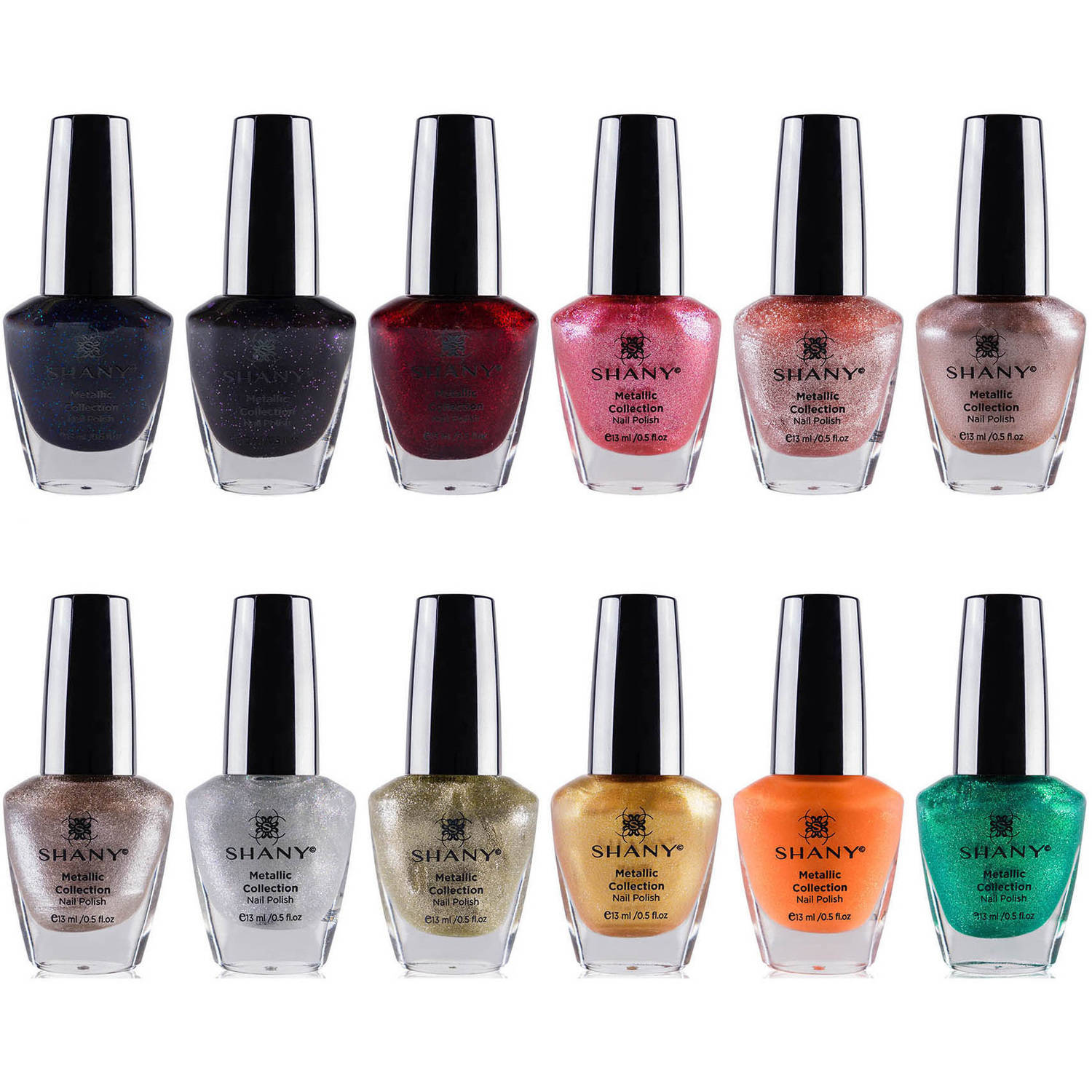 SHANY Metallic Collection Nail Polish Set, 12 count