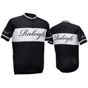 Raleigh Classic Jersey - Black And White With Classic Script Logo, Large