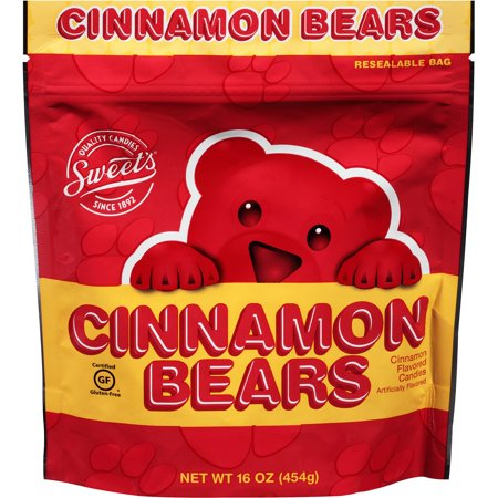 Sweet's Cinnamon Flavored Gummies Bear Candies, 16 Oz. - Sweet Tart Candy