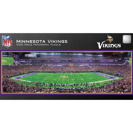 MasterPieces Minnesota Vikings 1000PC Panoramic Puzzle - Minnesota Vikings Halloween Stencils