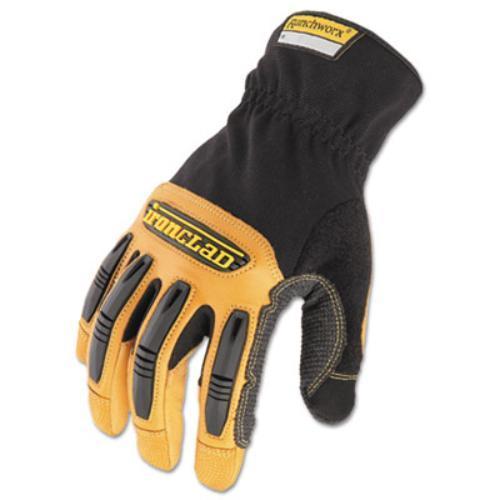 Ironclad RWG203M Ranchworx Leather Gloves, Black/tan, Medium