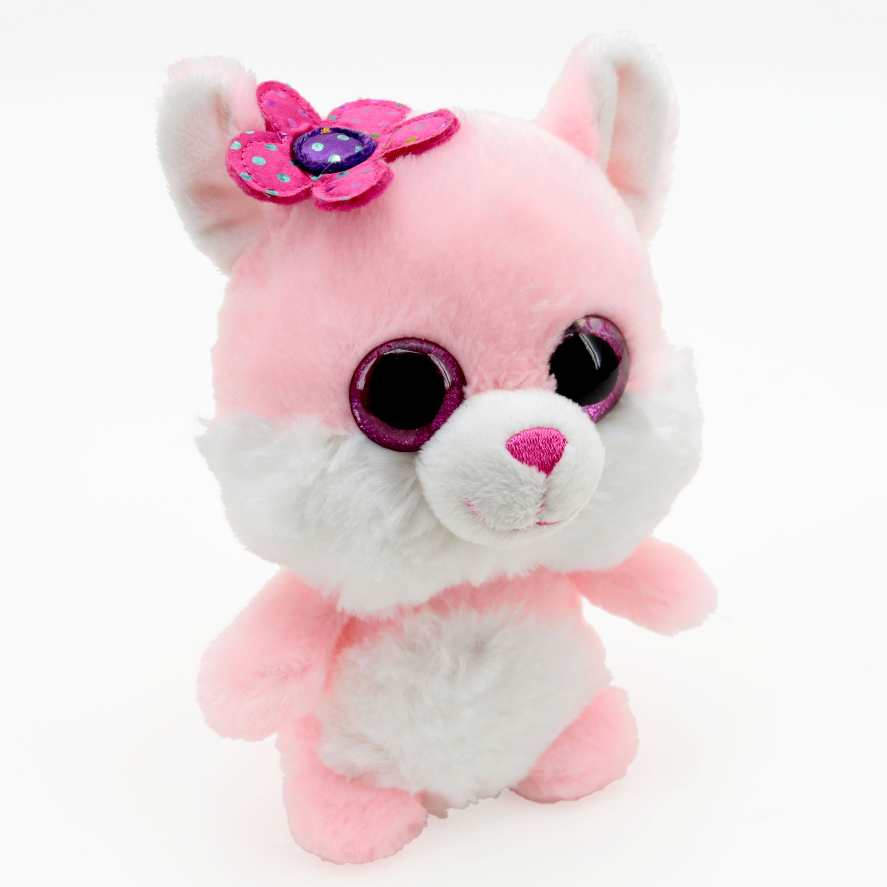 Generic 6 - inch Plush Pals With Accessory Stuffed Toy  -  Pink Cat