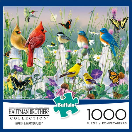 Buffalo Games - Hautman Brothers - Birds & Butterflies - 1000 Piece Jigsaw Puzzle