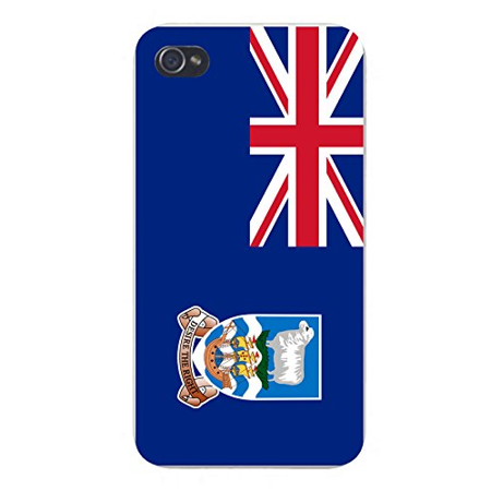 Apple iPhone Custom Case 5 / 5S White Plastic Snap On - World Country National Flags - Falkland (Country Falkland Islands)