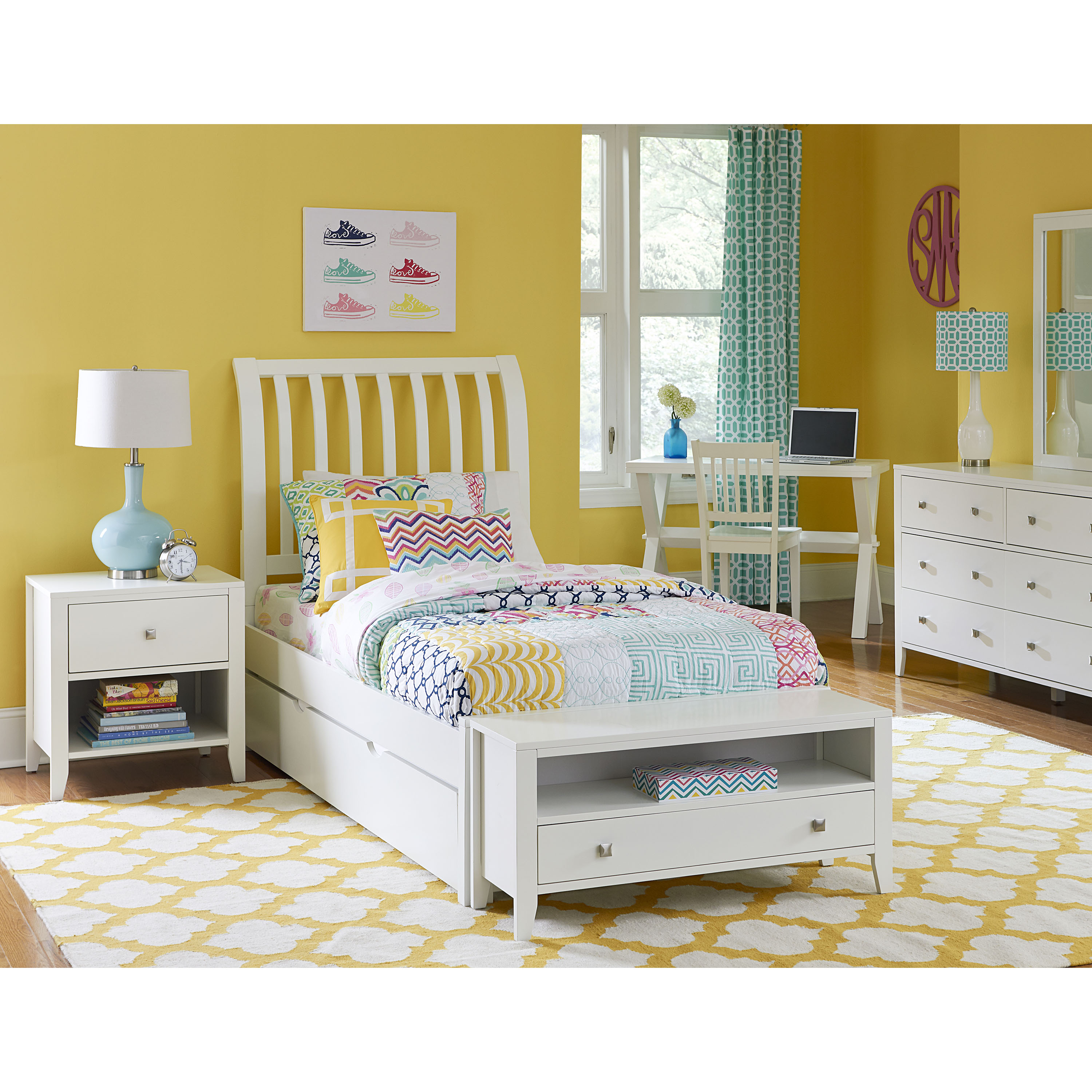 Hillsdale Furniture Pulse Rake Sleigh Bed with Trundle, Multiple Sizes and Colors