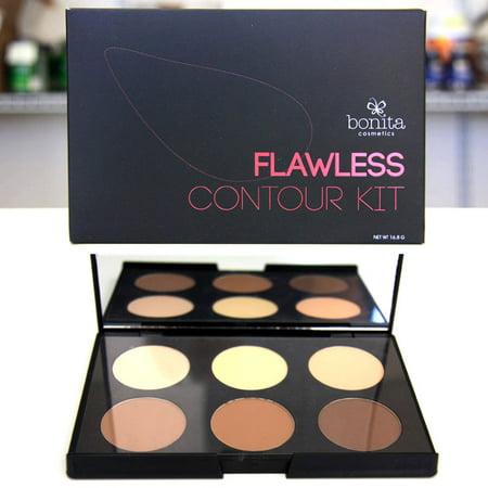 Flawless Contour Kit (6 Colors Face Powder), 16.8 g, Bonita
