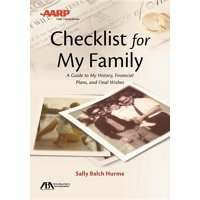 Aba/AARP Checklist for My Family: A Guide to My History, Financial Plans and Final Wishes (Paperback)