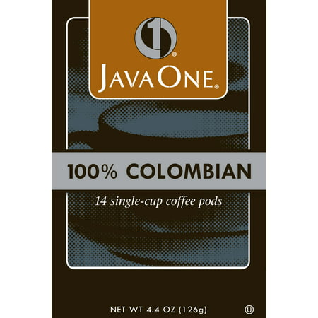 Java One, 100 Percent Colombian 14 Single Cup Coffee Pods, 4.4 Oz, 6 Ct ()