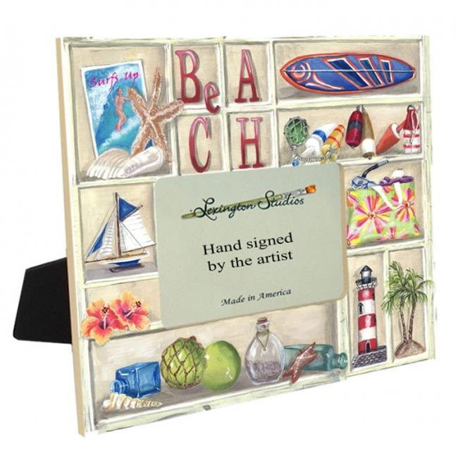 Lexington Studios 36063 A Day at the Beach 4 X 6 Off Center Picture Frame