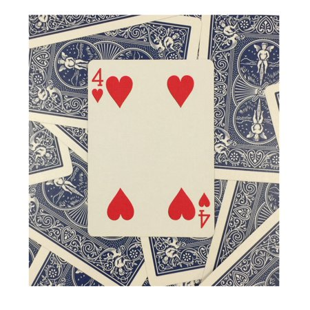 rock ridge one way forcing deck for magic tricks, blue bicycle 4 of
