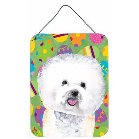 Carolines Treasures SC9442DS1216 12 x 16 in. Bichon Frise Easter Eggtravaganza Aluminum Metal Wall & Door Hanging Prints - image 1 of 1