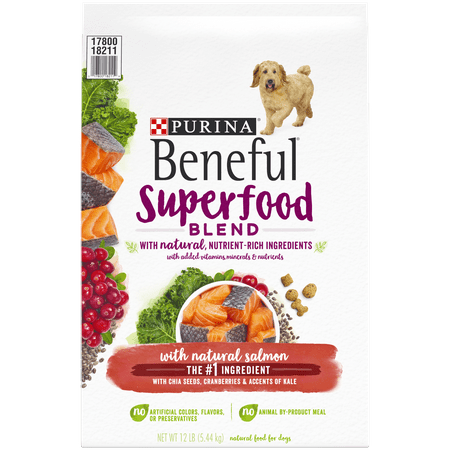 Purina Beneful Natural Dry Dog Food; Superfood Blend With Salmon - 12 lb. Bag