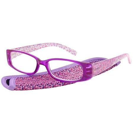 976064fd30bd Foster Grant Women's Plastic Reading Glasses, Iliana Purple - Walmart.com
