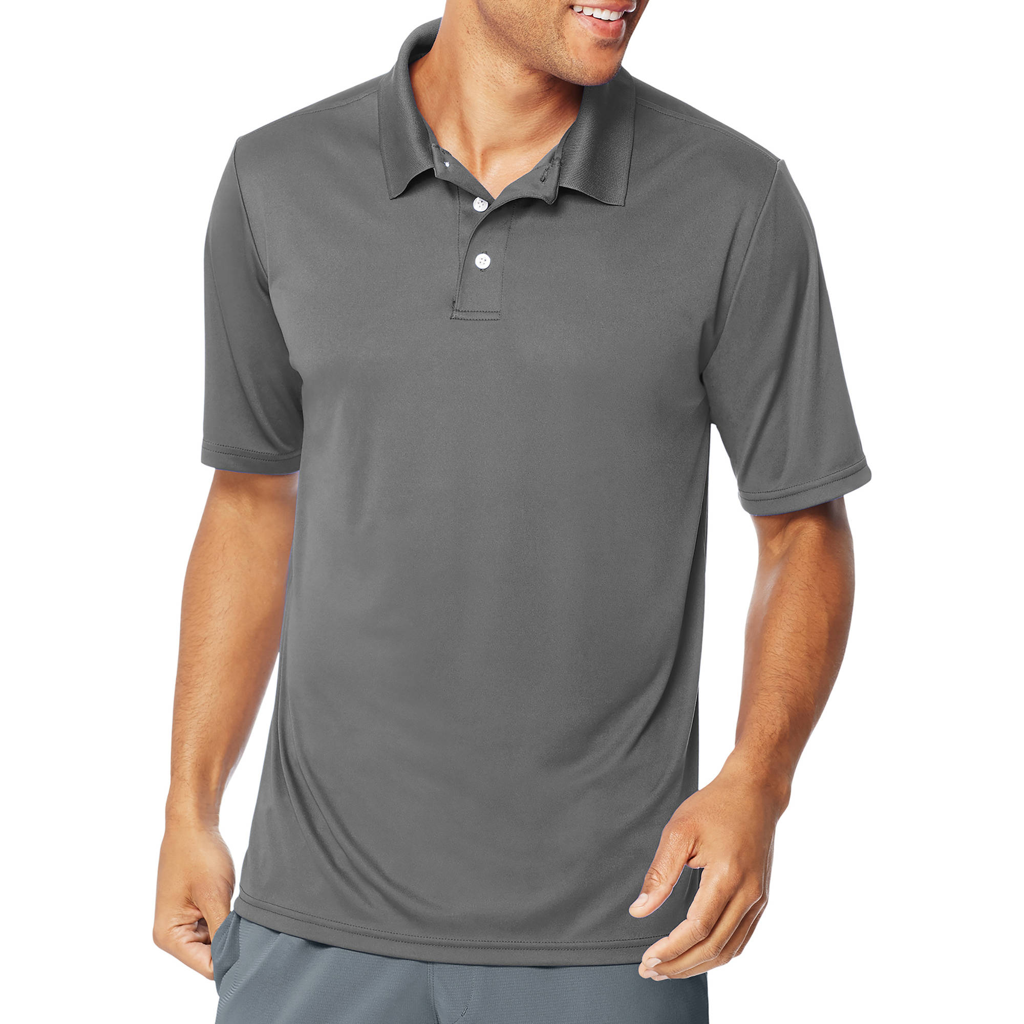 Hanes Sport Mens Cooldri Performance Polo 50 Upf Walmart