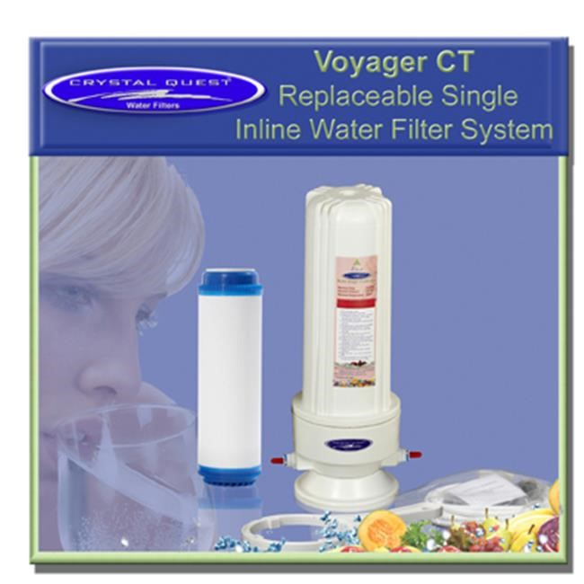 Crystal Quest CQE-IN-00105 Voyager CT Replaceable Single Inline Water Filter system-Ultimate