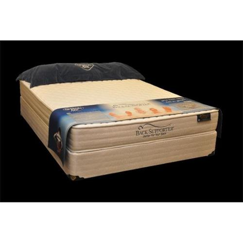 Spring Air 1920 50S Back Supporter MAX Bridgeport Queen Size Mattress and Foundation Set