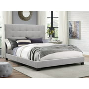 Crown Mark Florence Gray Panel Bed, Queen
