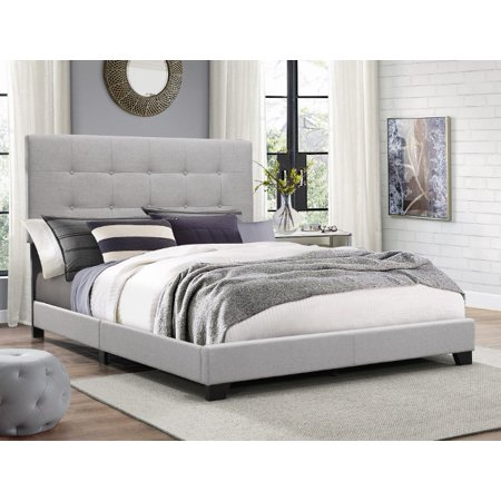 Crown Mark Florence Gray Panel Bed, Multiple - Crown Frame