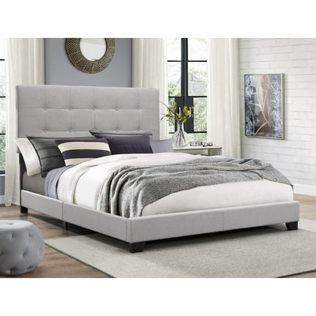 - Crown Mark Florence Gray Panel Bed, Multiple Sizes