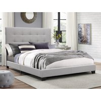 Deals on Crown Mark Florence Gray Panel Bed Queen