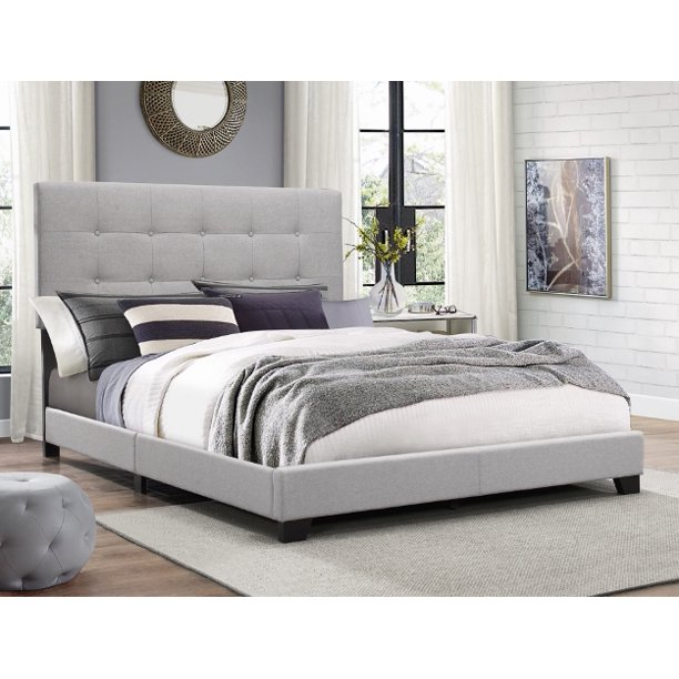 Crown Mark Florence Gray Panel Bed Multiple Sizes Walmart Com Walmart Com