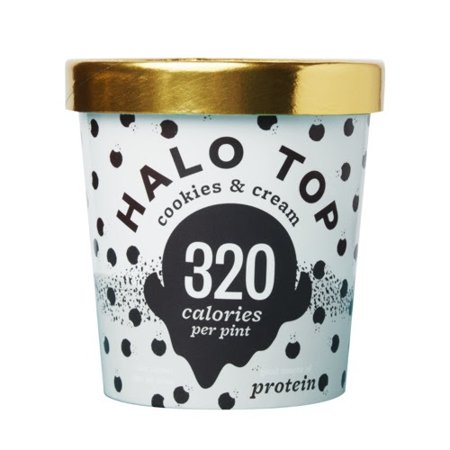 Halo Top Creamery Ice Cream  Multiple Flavors Available  Case Of 8 Pints