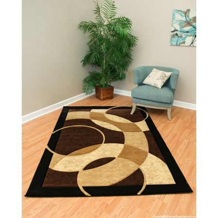 Chocolate Antique Round Rug - Rug Legend Modern High Quality Hand Carved Area Rug 8x11 Carpet 1052 Chocolate