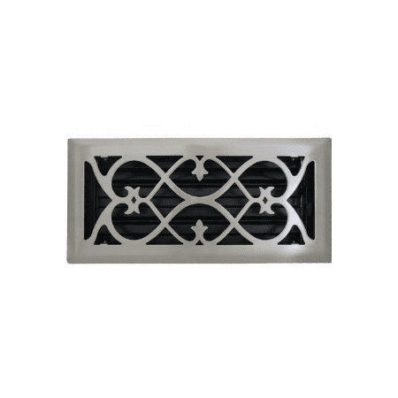 2 X 10 Victorian Brushed Nickel Floor Register Vent Cover This On Opens A Dialog That Displays Additional Images For Product With The Option