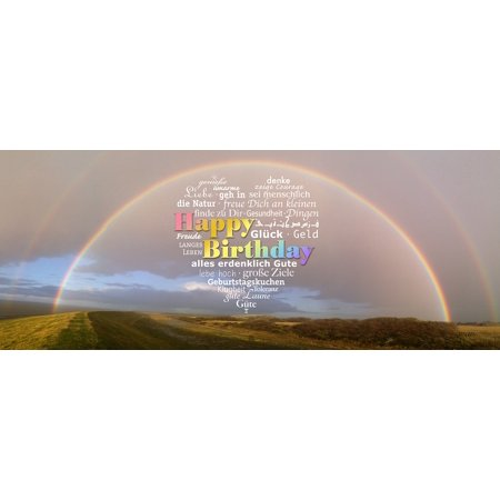 Framed Art for Your Wall Greeting Rainbow Luck Happy Birthday Birthday 10x13 Frame