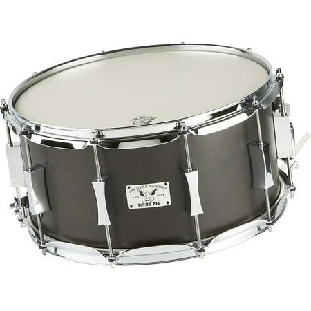 Pork Pie Little Squealer Birch / Mahogany Snare Drum 14 x 7 in. Black Satin Birch Drum Shell