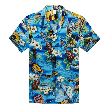 Hawaiian Shirt Aloha Shirt in Blue Paradise](Hawaiian Themed Clothes)