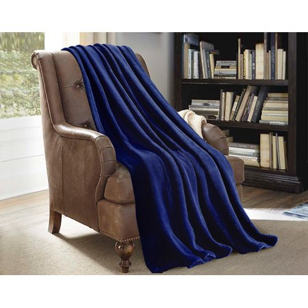 Blue Bear Fleece Blanket (Soft Flannel Fleece Throw Blanket For Sofa)