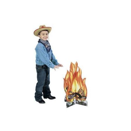 Fun Express - Campfire Standup for Party - Party Decor - Large Decor - Floor Stand Ups - Party - 1 Piece](Cardboard Camp)