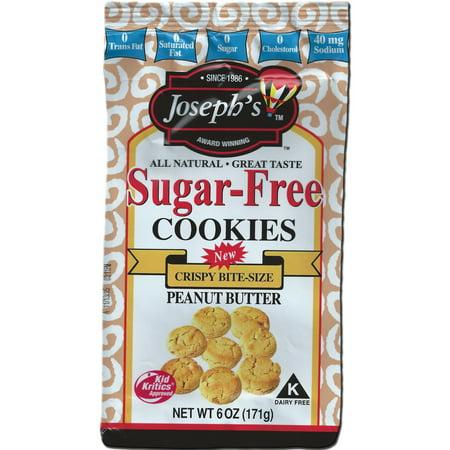 Josephs Sugar Free Peanut Butter Cookies  6 Oz