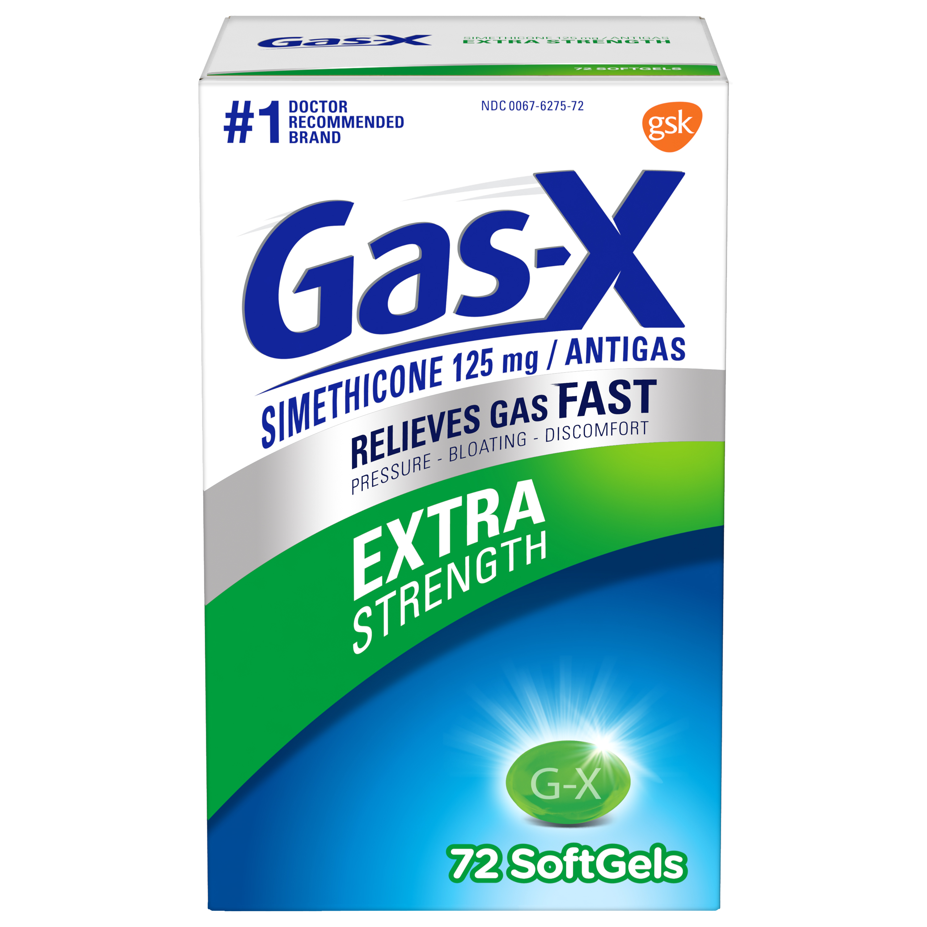 Gas-X Extra Strength Gas Relief Softgels, 72 Count