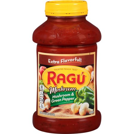 Ragu Pasta Sauce Chunky Mushroom & Green Pepper 45 Oz - 2 Pk.